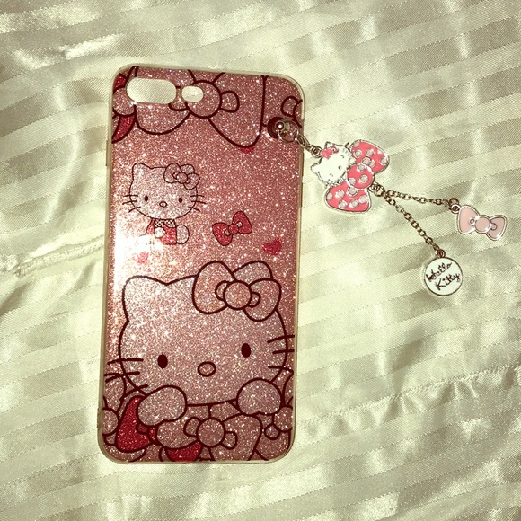 fa1ce1dba Hello Kitty iPhone 7-8 plus case with charms. M_5a7dd69272ea888926a23dc5